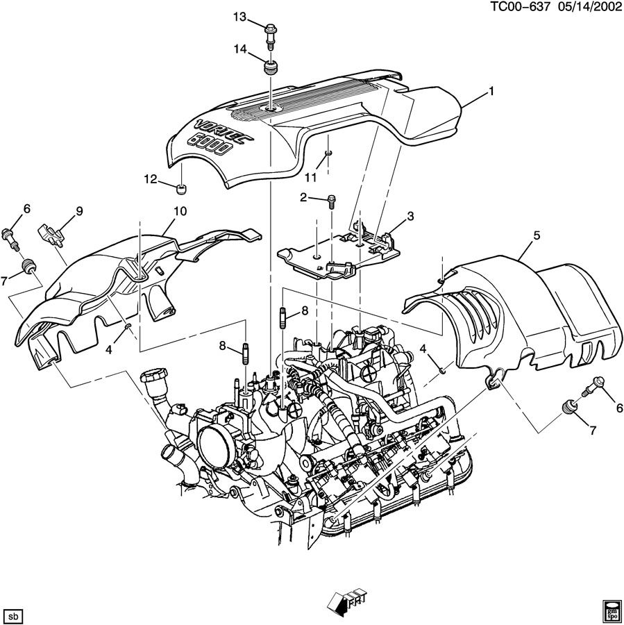 Chevrolet Tahoe Cover. Engine fuel intake manifold
