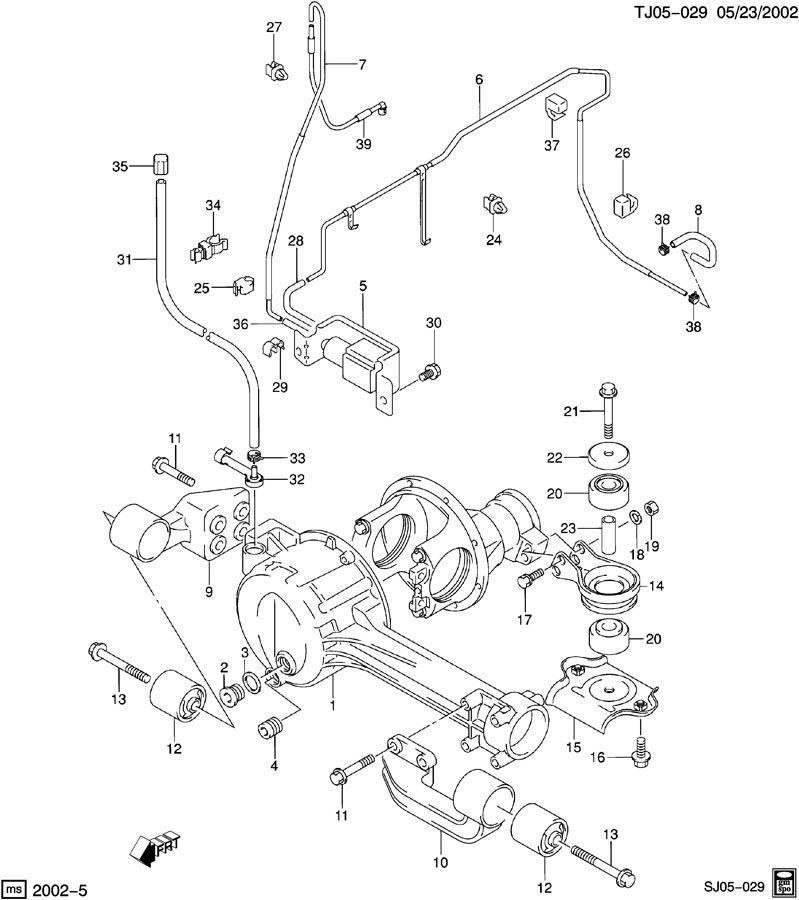 Chevrolet DRIVE AXLE/FRONT HOUSING, MOUNTING, & ACTUATOR