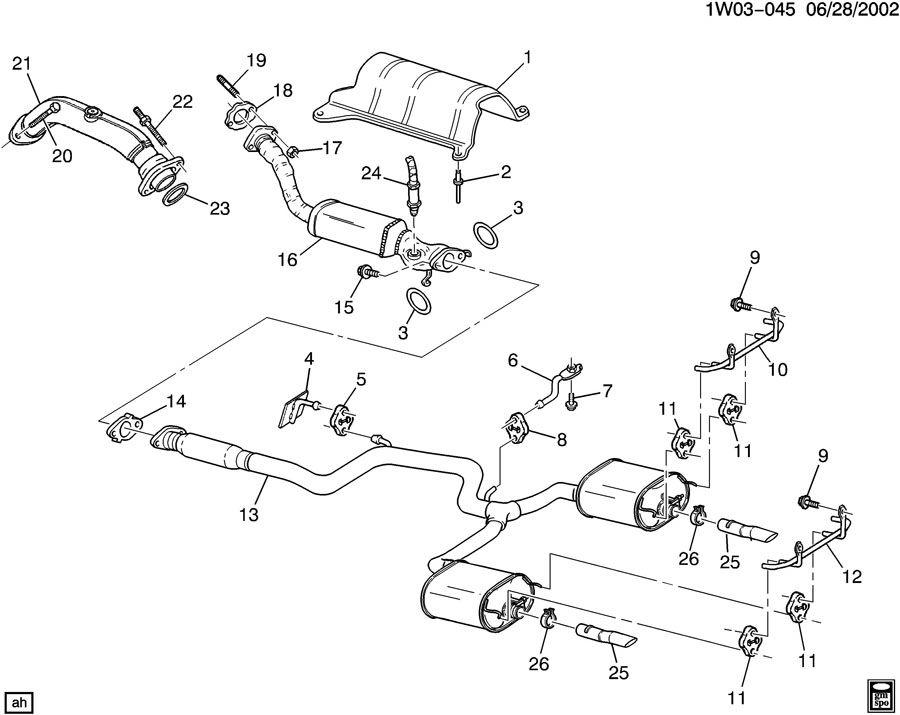 Chevrolet Impala Insulator. Catalytic converter. Exhaust