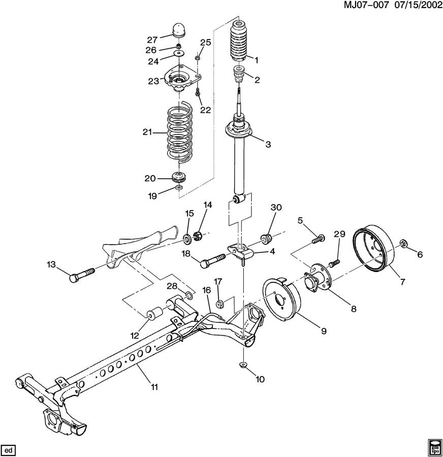 1997 Chevrolet Cavalier SUSPENSION/REAR