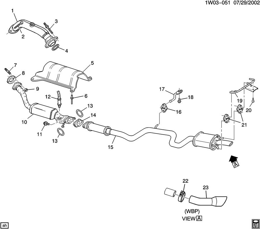 Chevrolet Impala Bracket. Exhaust muffler/resonator