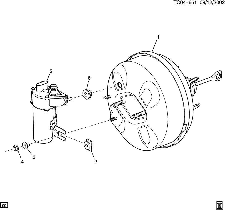 Chevrolet Silverado Attachment kit. Vacuum power brake