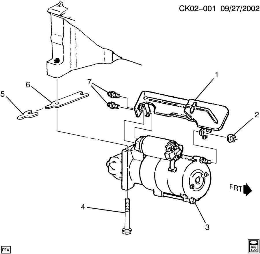 GMC C4500 Shield. Starter motor. Shieldstrtr