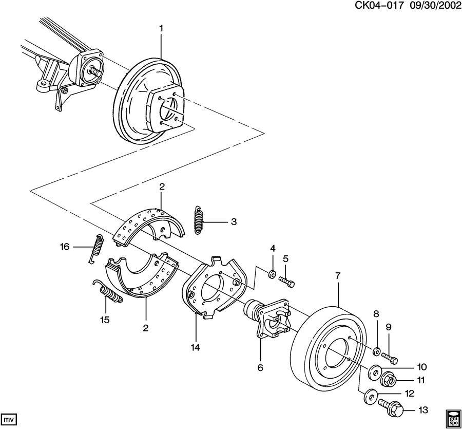 Chevrolet P30 Shoe. Driveline parking brake. Shoe kit
