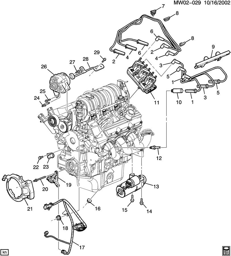 1997 Pontiac Grand Prix Harness. Camshaft sensor. Icm