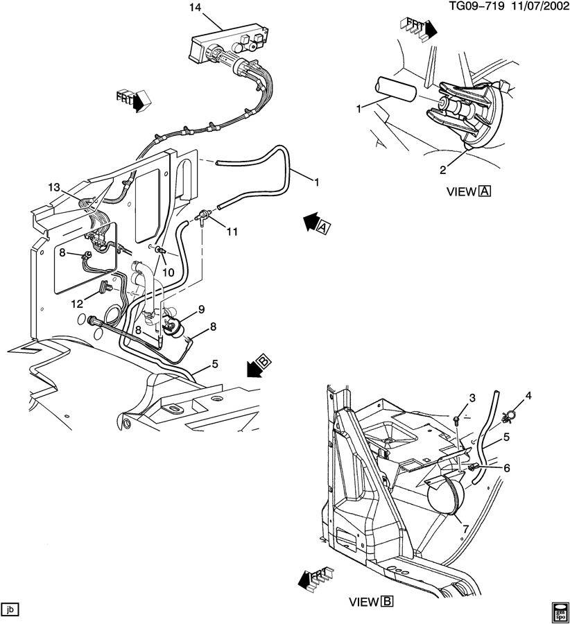2004 GMC SAVANA Harness. Air conditioning (a/c) vacuum