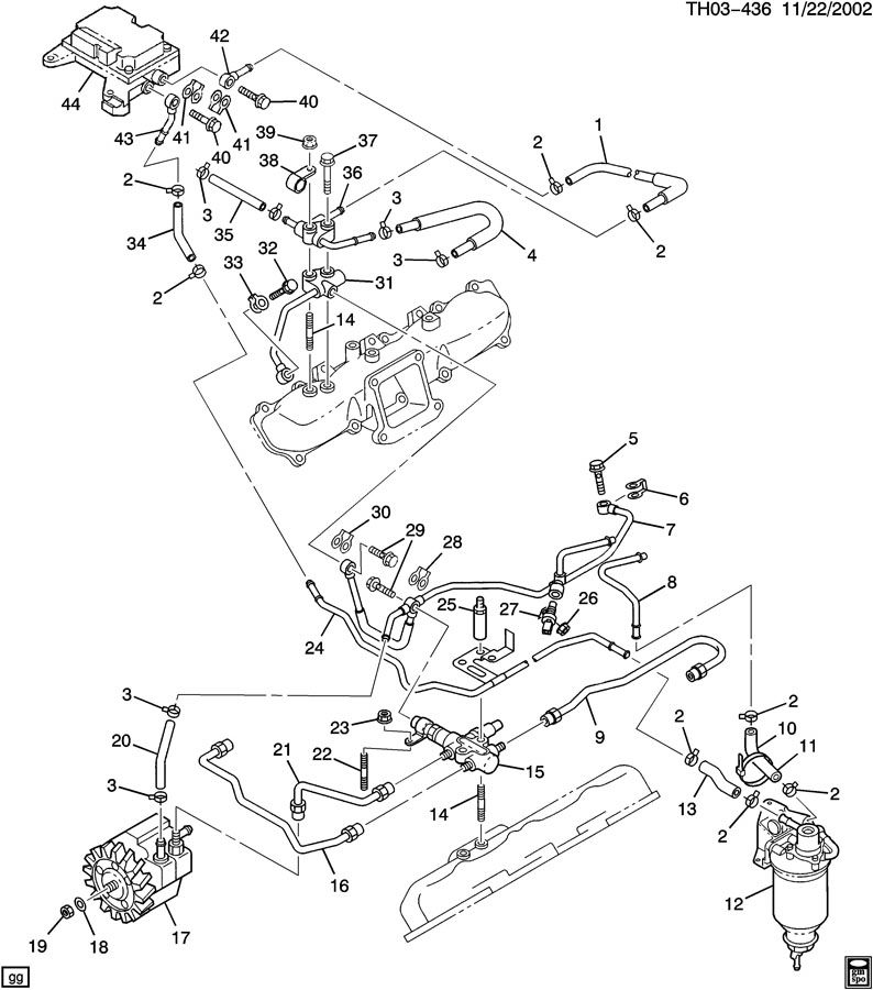 FUEL INJECTION SYSTEM-PIPES & MODULE