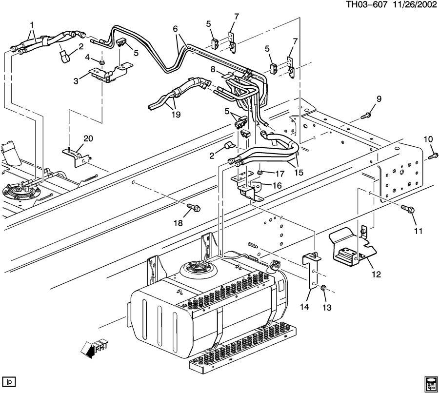 2003 GMC C7500 FUEL SUPPLY SYSTEM-REAR