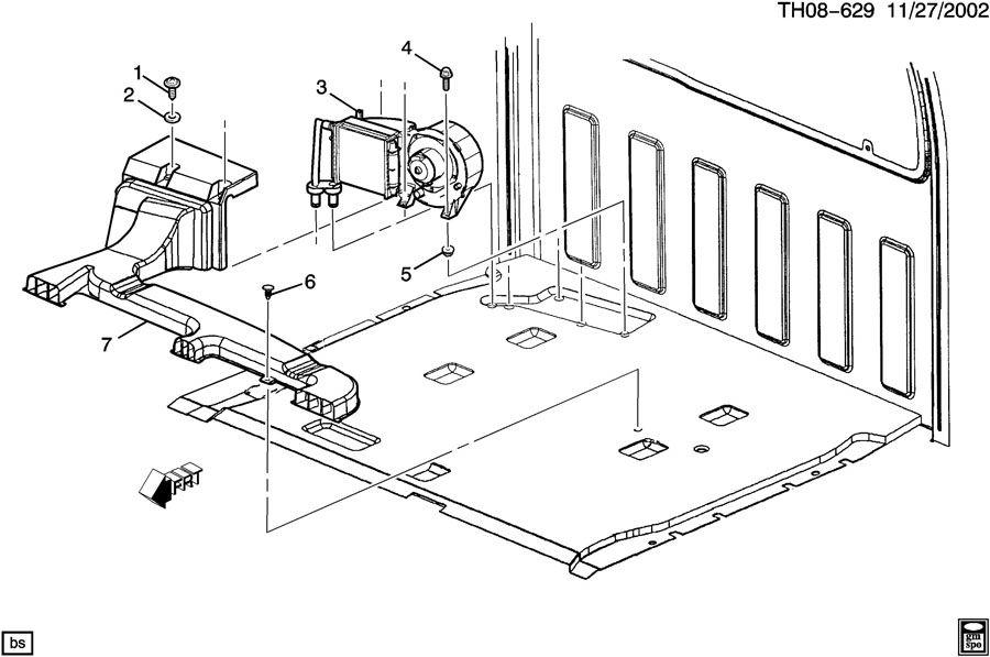 GMC C4500 Nut. Auxiliary heater. Nut, aux htr(09.196