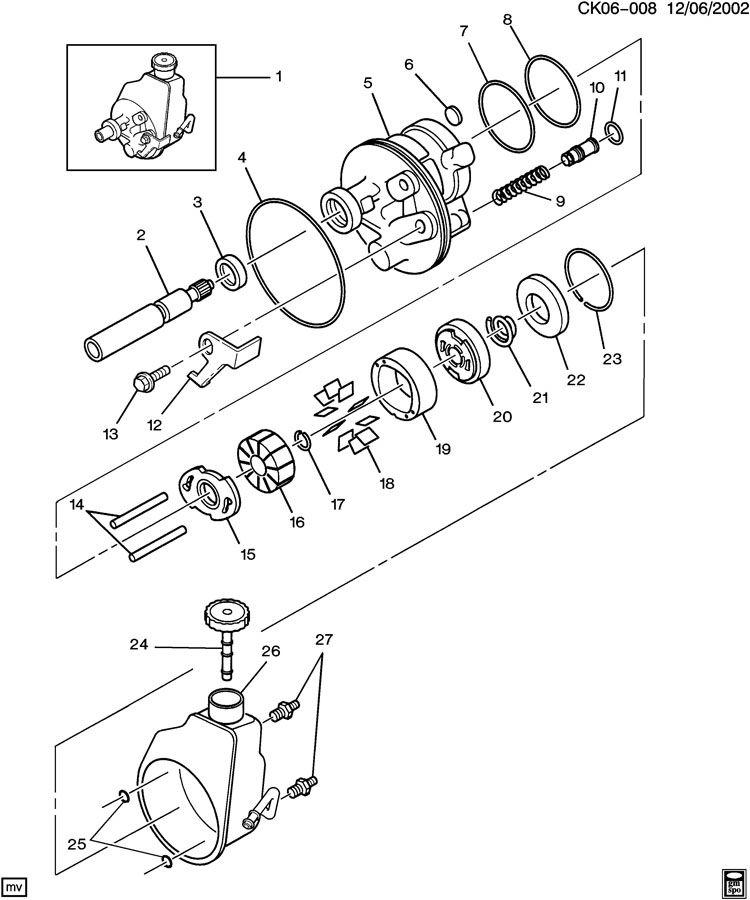 1994 GMC C6500 Ring. Power brake booster. Power steering