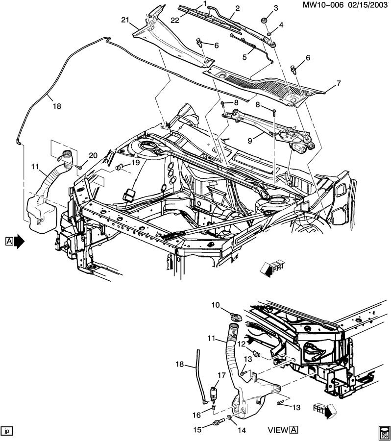 2004 Pontiac Grand Prix Hose. Windshield washer. Hose