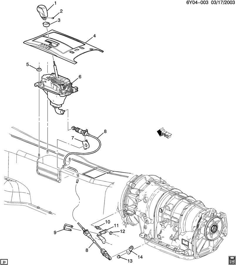 2004 Cadillac XLR SHIFT CONTROL/AUTOMATIC TRANSMISSION