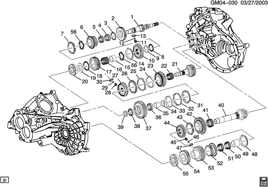 Chevrolet Cavalier Hub asm-3rd and 4th gear synthetic