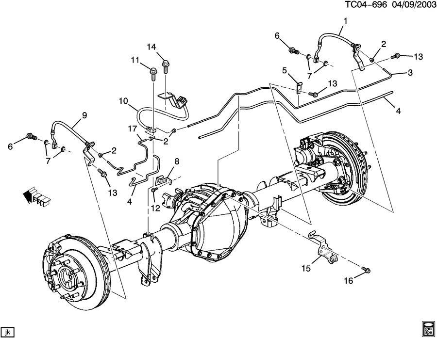 Chevrolet SUBURBAN BRAKE LINES/REAR