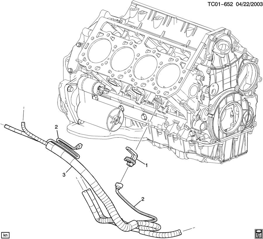 2003 Chevrolet Tahoe Z71 ENGINE BLOCK HEATER