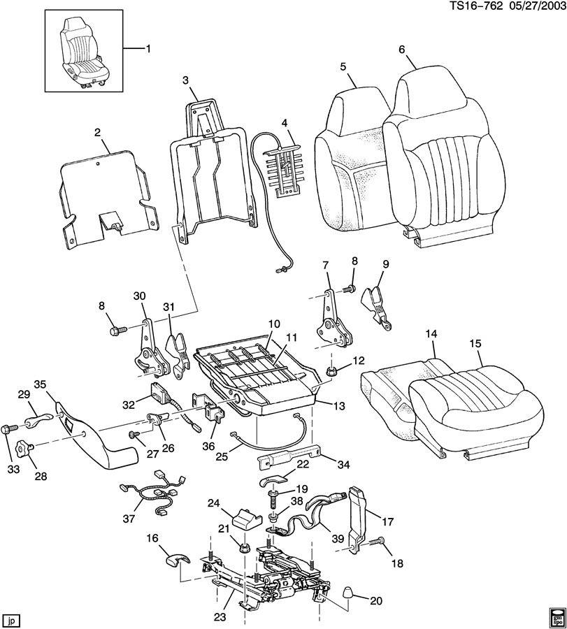 Chevrolet S10 Bezel. Seat adjuster/recliner. Bezel, p/seat
