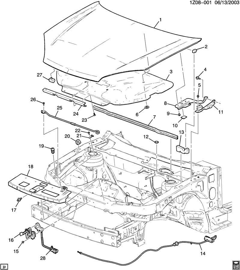 Chevrolet Malibu Hinge. Hood panel. Hinge, hood(body si
