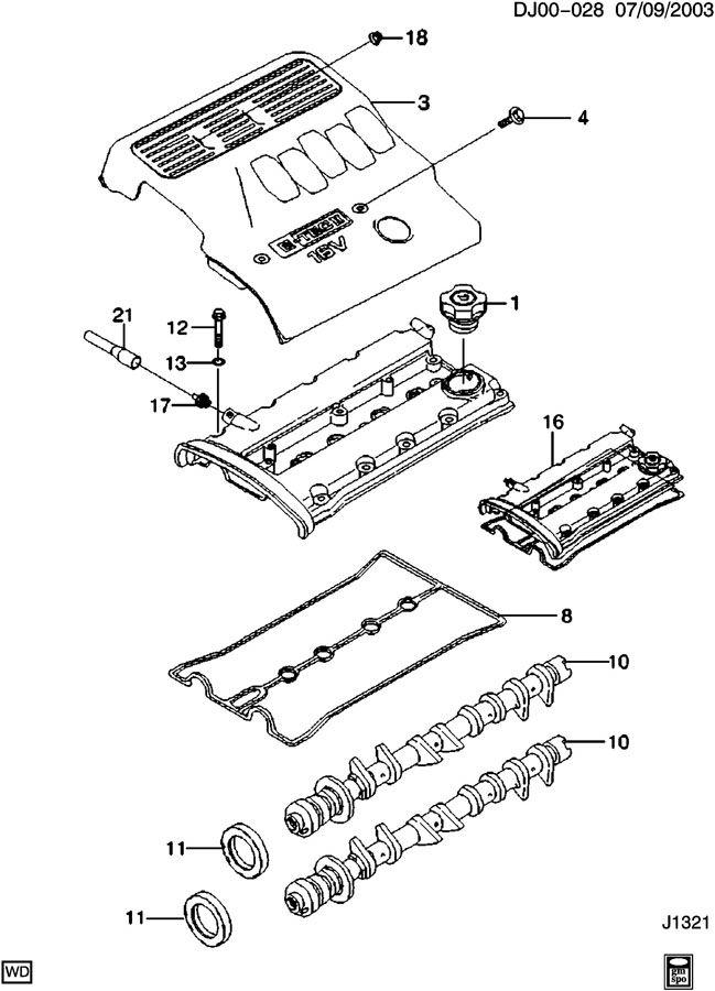 Chevrolet Aveo Camshaft. Engine. Camshaft, eng