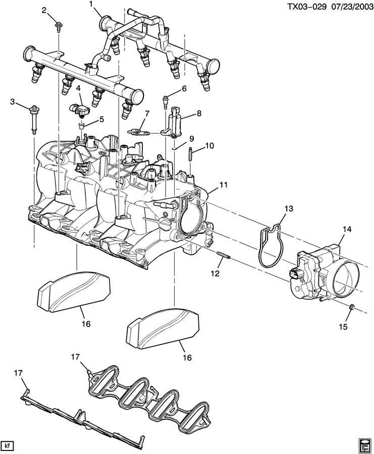 Chevrolet Silverado 2500 Manifold. Engine fuel intake