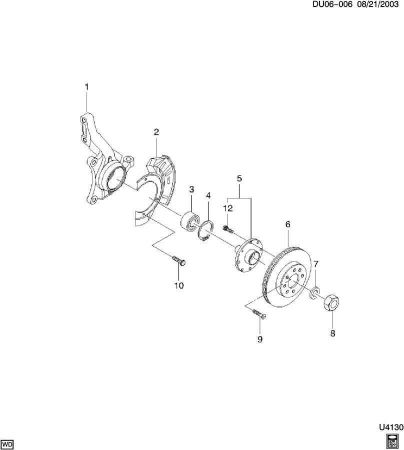 Chevrolet Spark Nut. Front wheel drive axle shaft (pack of