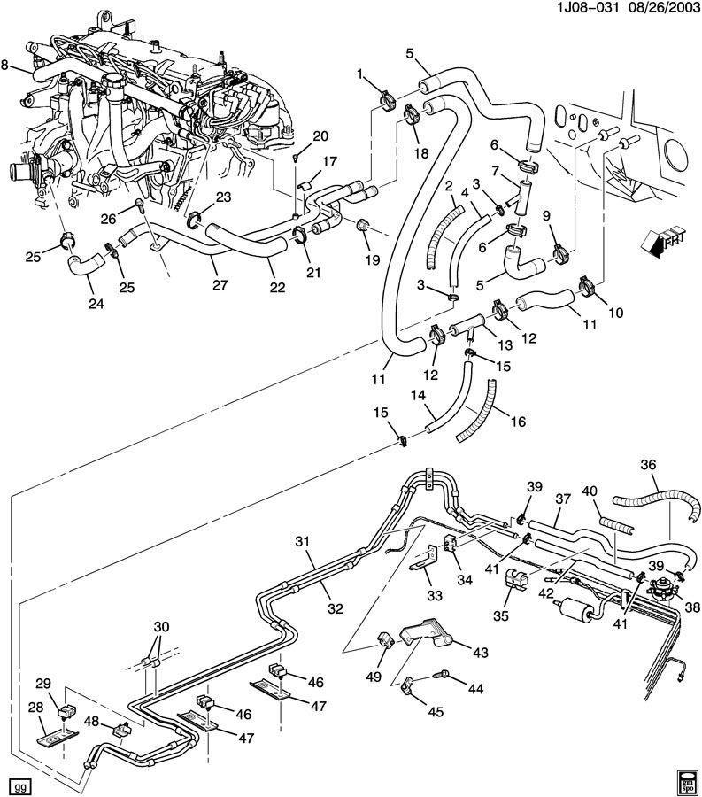 Chevrolet Cavalier Bracket. Fuel line. Bracket, cng high