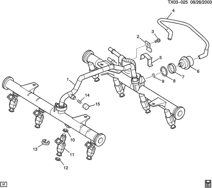 Chevrolet Silverado Rail. Fuel injection. Rail, m/port f