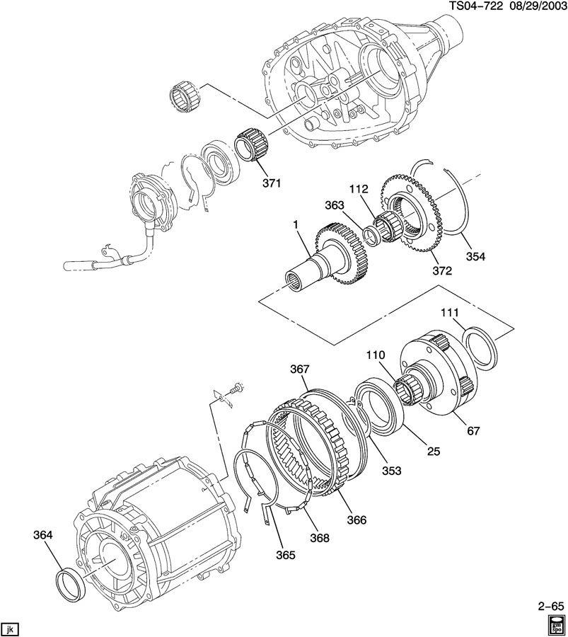Chevrolet COLORADO Seal. Transfer case. Seal, trfer case