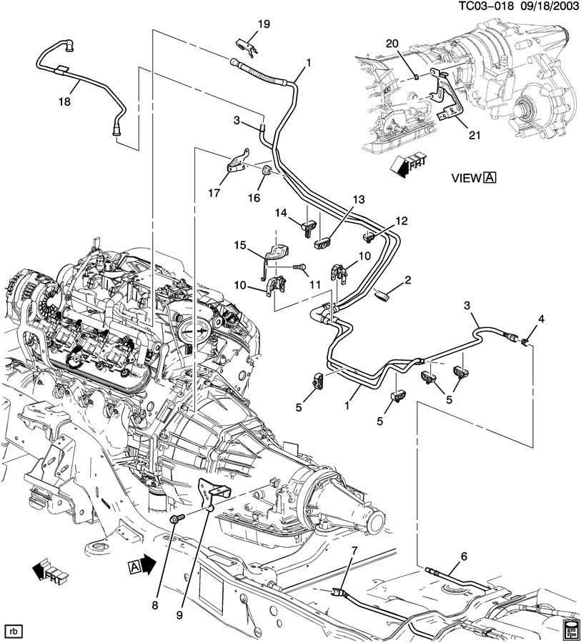Chevrolet SUBURBAN FUEL SUPPLY SYSTEM-FRONT