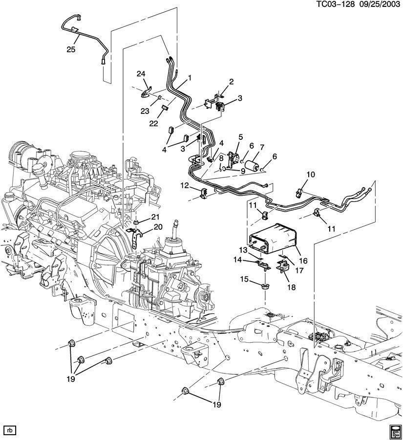 2003 Chevrolet Silverado FUEL SUPPLY SYSTEM-FRONT PART 1