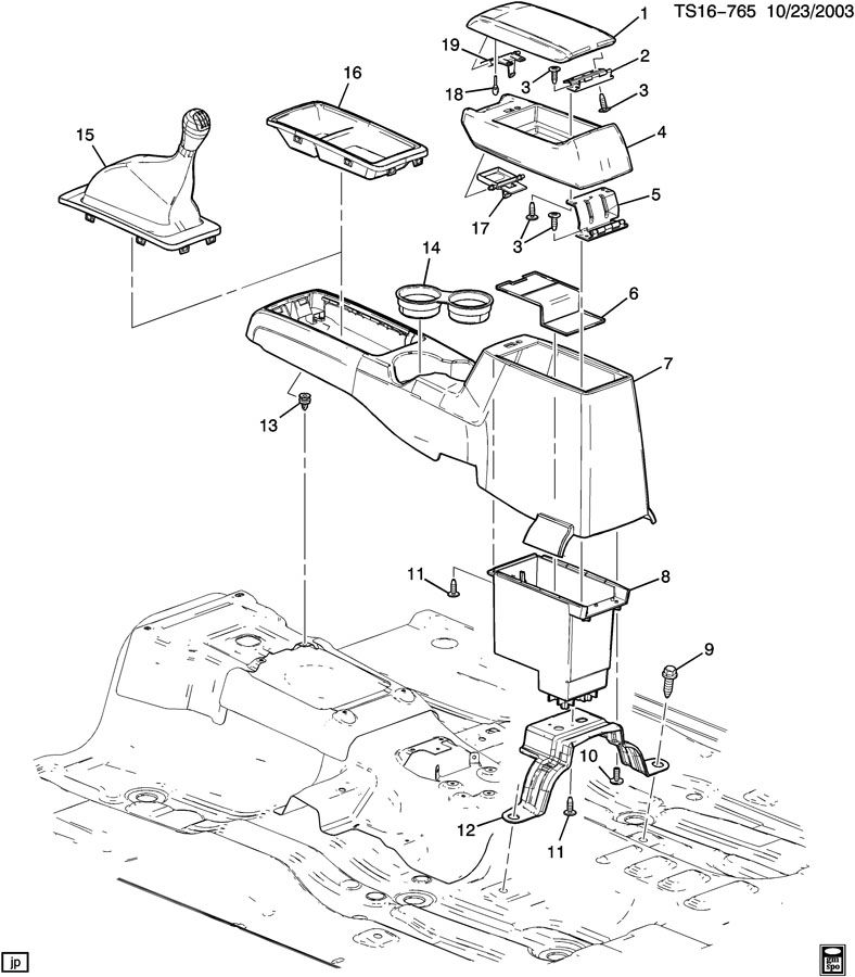 Chevrolet COLORADO Armrest. Seat separator console