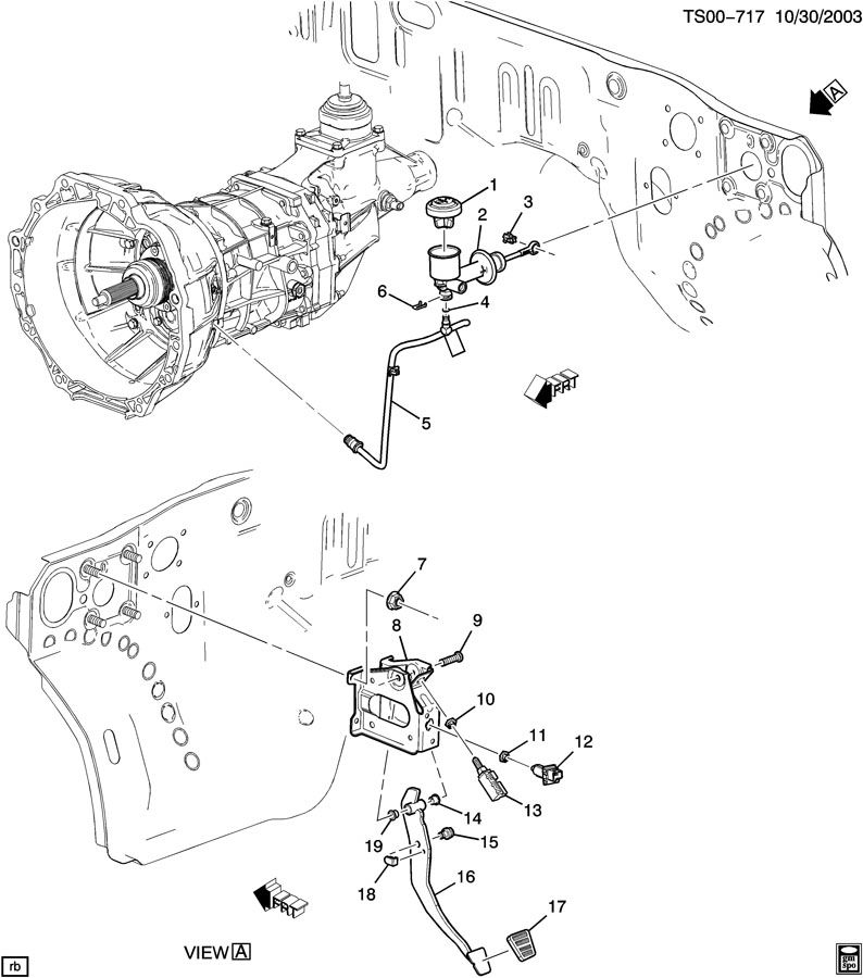 Chevrolet COLORADO Pad. Brake/clutch pedal. Pad, clu ped