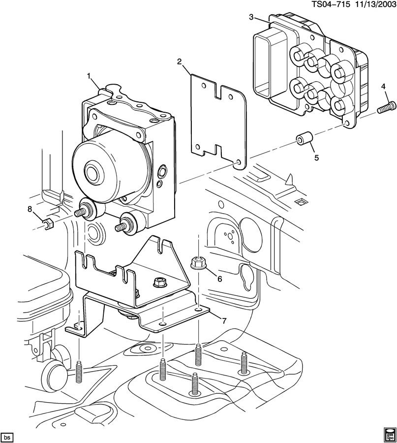 Chevrolet COLORADO Module. Electronic brake control