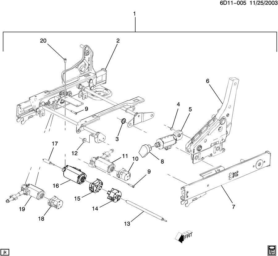 Cadillac CTS Motor. Cts; left; w/o memory; rear. Cts