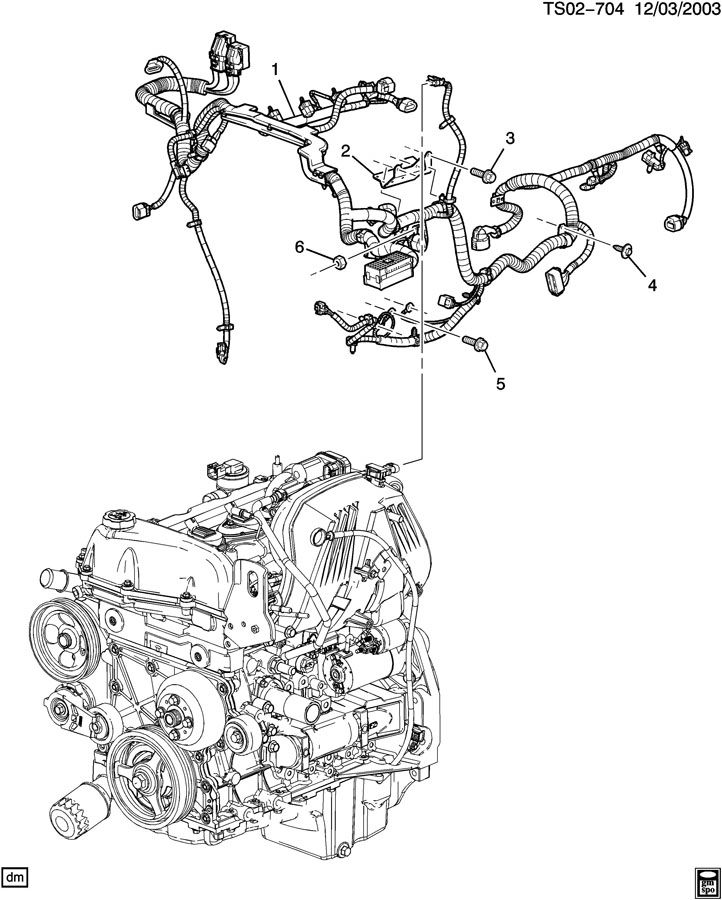 Chevrolet COLORADO Bracket. Chassis/engine wiring harness