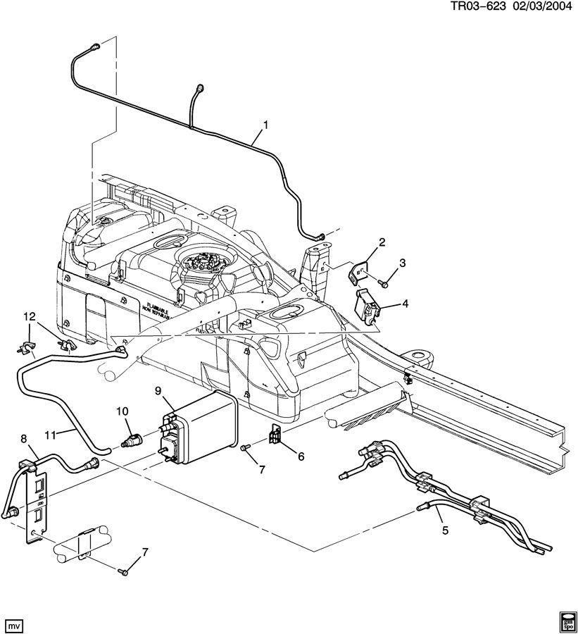 2004 Chevrolet Silverado Hose. Evaporation emission system