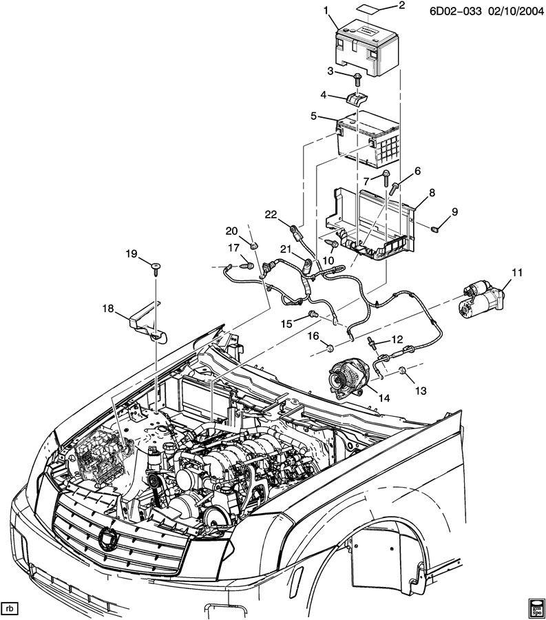2007 Cadillac CTS Battery. INSULATOR. SHIELD. SHIELDBAT