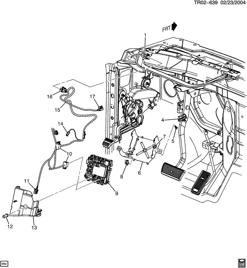 Chevrolet Silverado Block. Wiring junction. Block, body