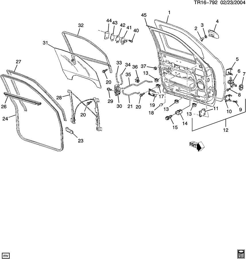Chevrolet Silverado Retainer. Clip. Door lock cylinder