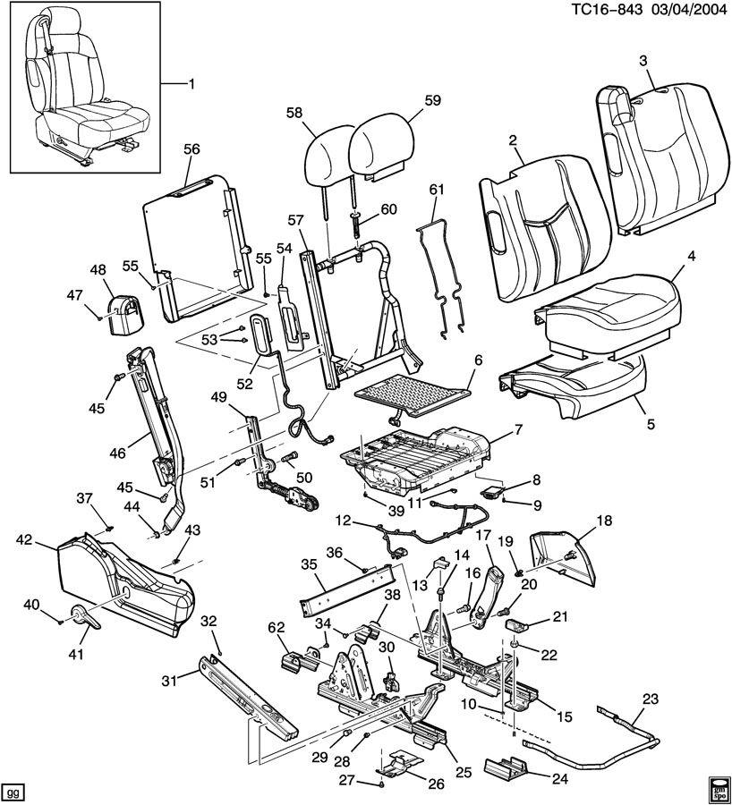 Chevrolet SUBURBAN Handle. Seat adjuster/recliner. Handle