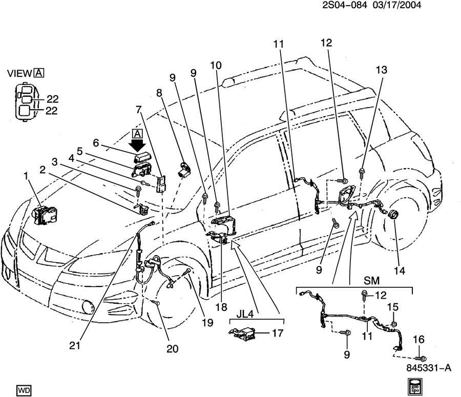 Pontiac Vibe BRAKE SYSTEM/ANTILOCK ELECTRICAL