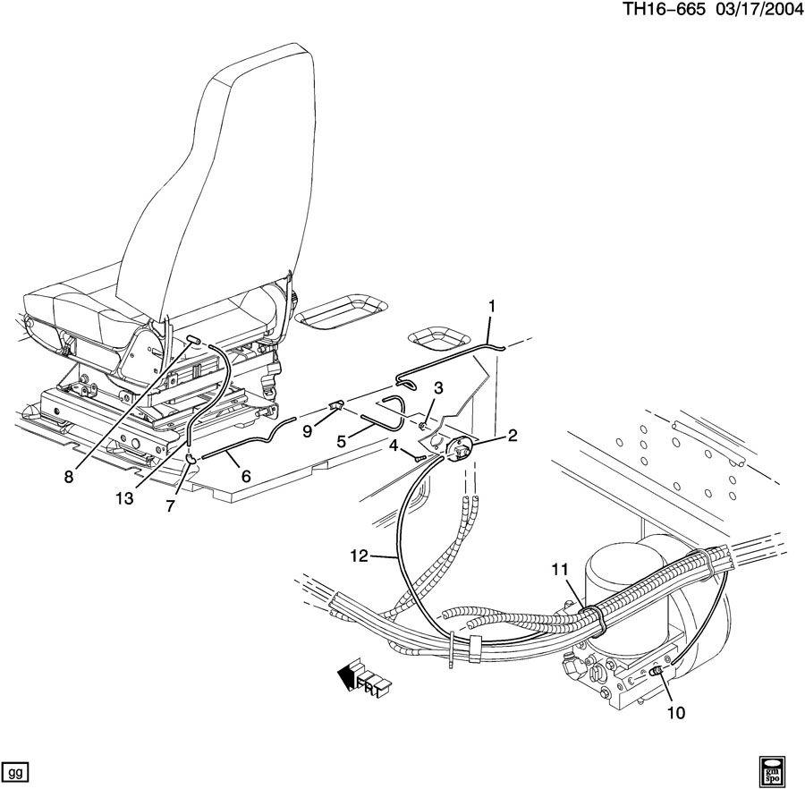 GMC C6500 Manifold. Horn. Seat. Manifold, air horn air(16