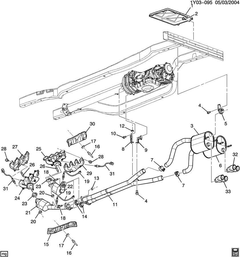 Chevrolet EXHAUST SYSTEM