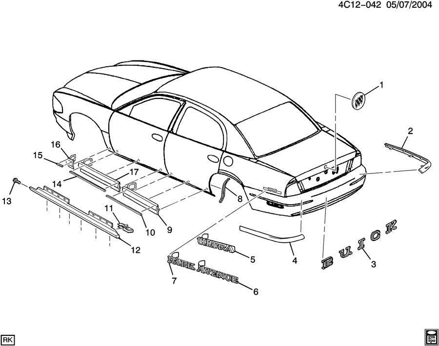 2003 Buick Park Avenue Molding kit. Front side door