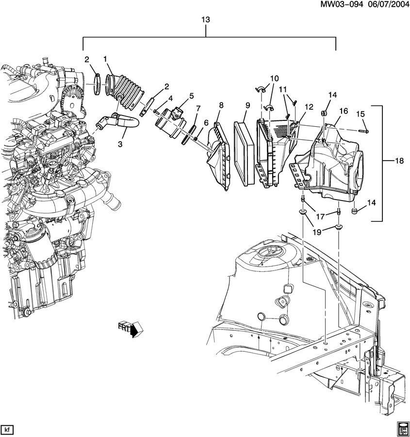 Buick LaCrosse Tube. Engine crankcase ventilation. Tube