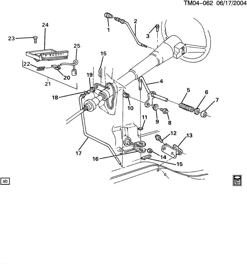 1988 Chevrolet S10 Lever. Transmission. Shift. Manual