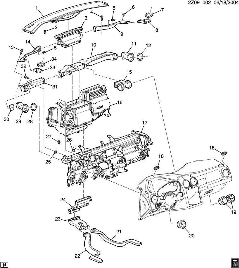 Pontiac G6 Panel. Instrument panel. Panel, i/p upr tr