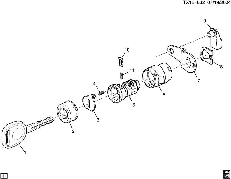 Chevrolet Silverado Door Lock Cylinder Clip (Front). 2