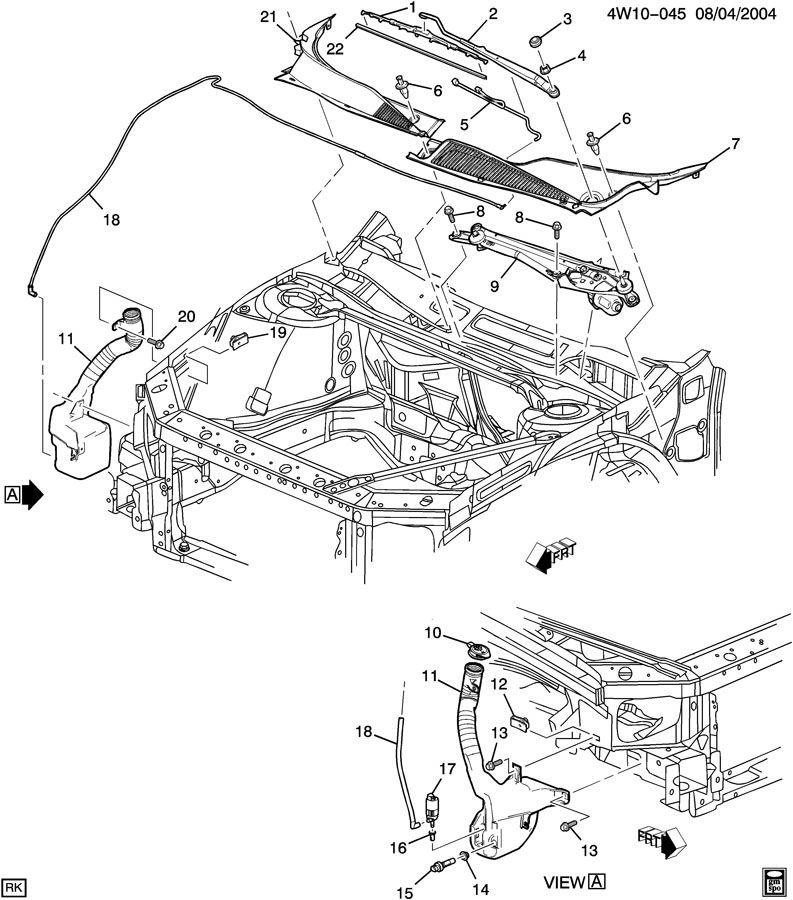 Buick LaCrosse Screen. Cowl top vent louver. Screen, air
