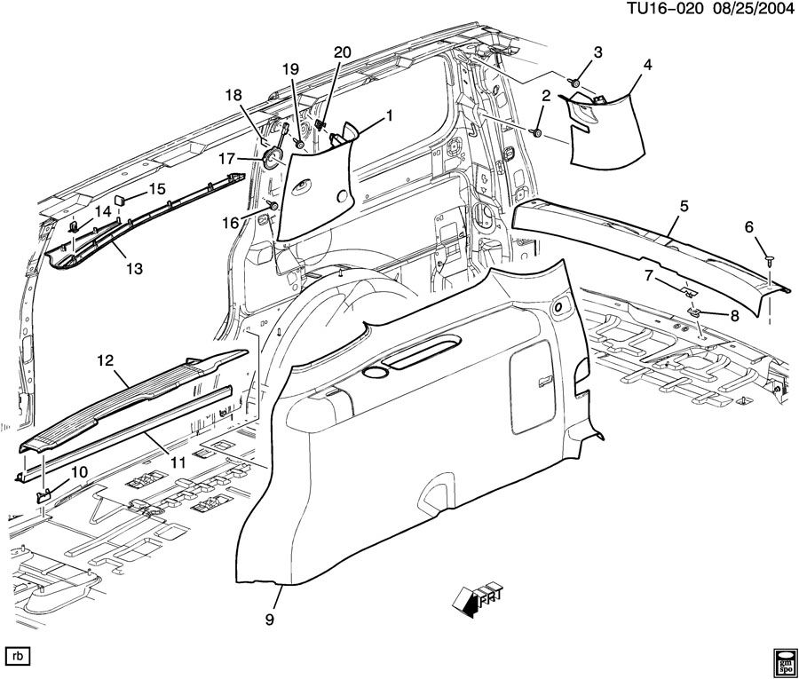 [DIAGRAM] 1999 Pontiac Trans Sport Van Interior Fuse