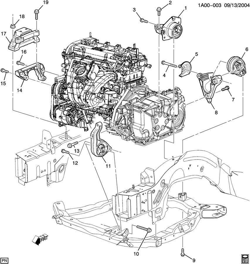 Chevrolet Hhr Ss Engine Diagram Chevy 2.2L Engine Block